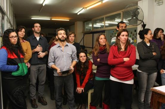 Taller de Afichismo Social en Rosario. EVAP.