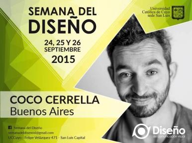 Coco Cerrella - Semana del Diseño- San Luis 2015